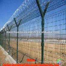 Y type post low carbon steel wire galvanized airport fence