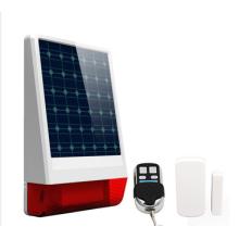 Sirene de energia solar sem fio com alarme de controle remoto