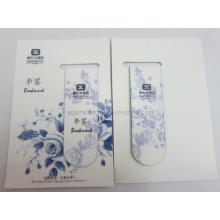 Cmyk Printing Magnetic Bookmark avec carte papier (bookmark-013)