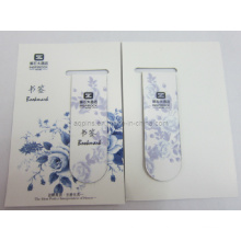 Cmyk Printing Magnetic Bookmark with Paper Card (bookmark-013)