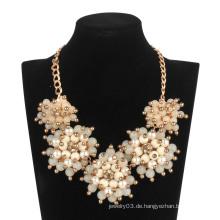 Große Acryl 5 Blumen Halskette (XJW13600)