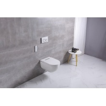 Inodoro inteligente suspendido en la pared con cubierta de asiento inteligente