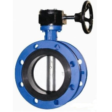Flanged Concentric Butterfly Valve with Gear Operator