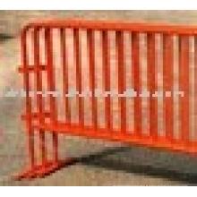 Barricade de contrôle de la fougue enrobée de poudre