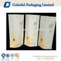 Papel branco Resealable do saco de papel de kraft está acima do empacotamento de alimento