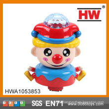 Funny Plastic Universal Musical Toy Clown With Light