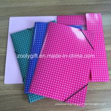 Color A4 Documents File Folder Cardboard Paper File Elastic Closure