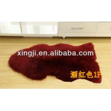 Véritable fourrure teints en peau de mouton de couleur australienne pour la décoration