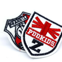 High Quality Custom 3D Sports Badges Iron On Embroidery Patch