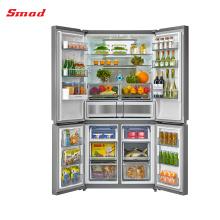 Мульти-дверный холодильник Морозильная камера без инея четыре двери бок о бок холодильник
