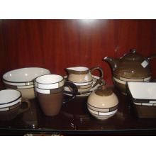 Keramik Glasierte Geschirr Set