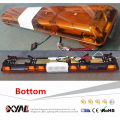 """129W 1.9M 75"""" Long Length PA System Different Flashing Pattern Rotary Function LED Alley Takedown Light Bar"""