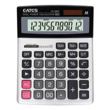Factory Price 12 Max Digits High Tech Dual Power Scientific Calculator Metal Panel Office Desktop TAX Calculator