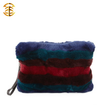 Hot Fashion 2015 Winter Colorful Rex Rabbit Fur Hand Fur Bags