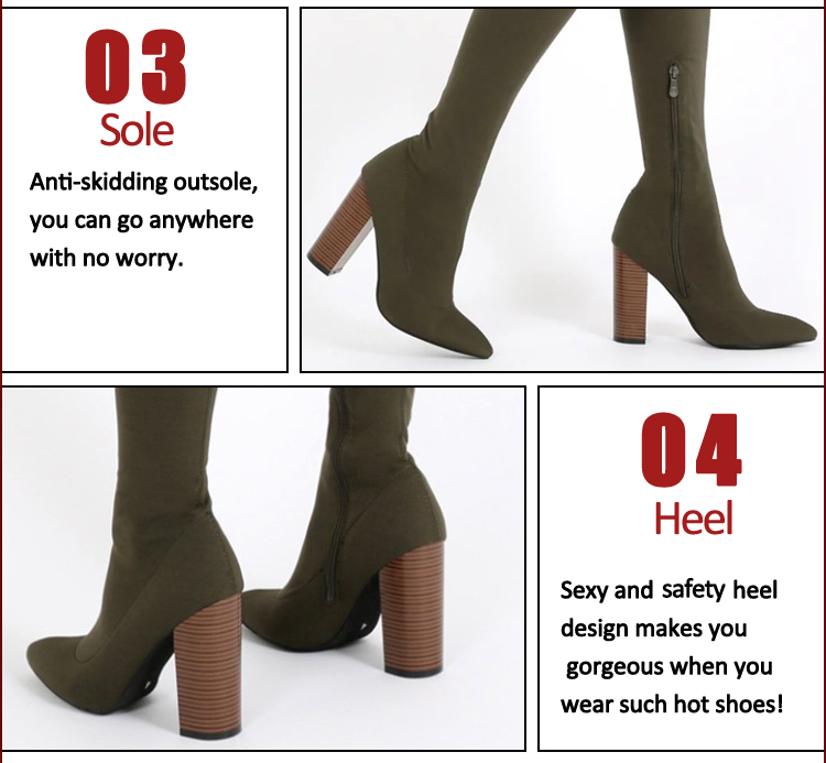 12cm chunky high-heel strap lace suede boots