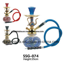 Luxury Colour Glass Base Zinc Alloy Starbuzz Portable Hookah
