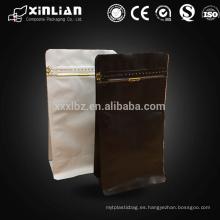 Fondo cuadrado de estampado de aluminio de aluminio de impresión bolsas con e-zip