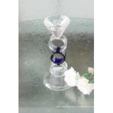 Blue Crystal Candle Holder for Wedding Decoration (KLS120302-11BA)