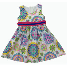 Модные платья летом для горячего продажи Детская одежда (sqd по-122)