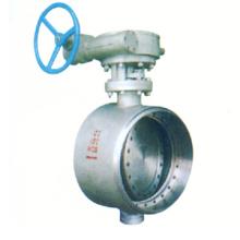 worm gear /turbine drive welded butterfly valve