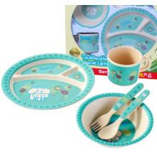 (BC-CS1075) Набор столовых приборов из бамбукового волокна для детей