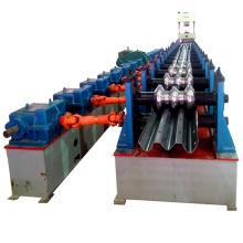 Saftey três onda de alta placa ferroviária galvanizado folha de ferro guarda cerca de barreira ferroviária guardrail estrada rolll formando máquina