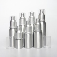 High Quality 250ml Silver Aluminum Shampoo Bottle, Aluminum Pump Bottle for Cosmetic Packaging