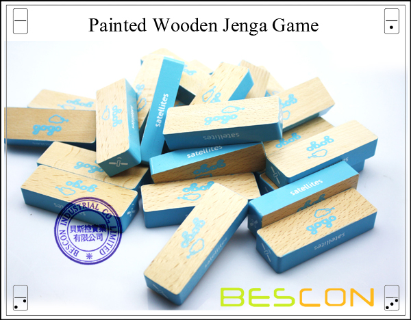 Painted Wooden Jenga Game-3
