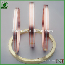 silver inlay brass copper metal strips
