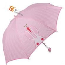 Niedliche Kunststoffgriff im freien Kind Regenschirm (YS-SK001A)