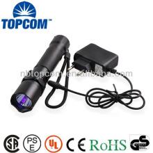 Lampe de poche rechargeable de la police 365nm uv lampe de poche