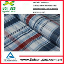 100% cotton fabrics in check pattern with soft hand feel