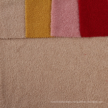 Hot selling Warm textiles 320gsm 100% polyester teddy  fleece fabrics for clothing winter