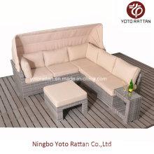 Hot Rattan Sofa mit C-Tisch für Outdoor (5091)