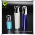 Plastic bottle 50 liters 1 oz white bottle acrylic rotary airless pump bottle for cosmetics with silver pump