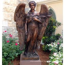 estatua de ángel alado de bronce de alta calidad