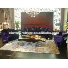 Sofá clásico de tela de terciopelo A10095