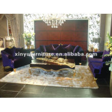 Tecido de veludo clássico sofá A10095