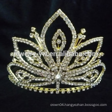 bridal hair accessories gold plated crystal crown headband