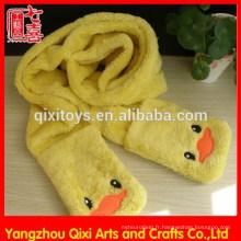 Écharpe en peluche animal d'hiver doux bon marché 100% polyester écharpe