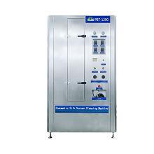 Máquina de limpieza automática de plantillas de serigrafía neumática