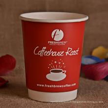 8oz, 10oz, 14oz, 16oz Double Wall Coffee Cup avec couvercle