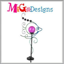 OEM Elegant Metal Arts Garden Solar Powered Stake Light