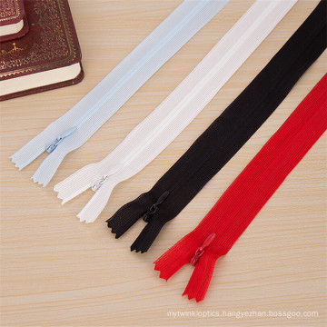 Top Quality Invisible Clothing Nylon Meltal Zipper with Long Chain