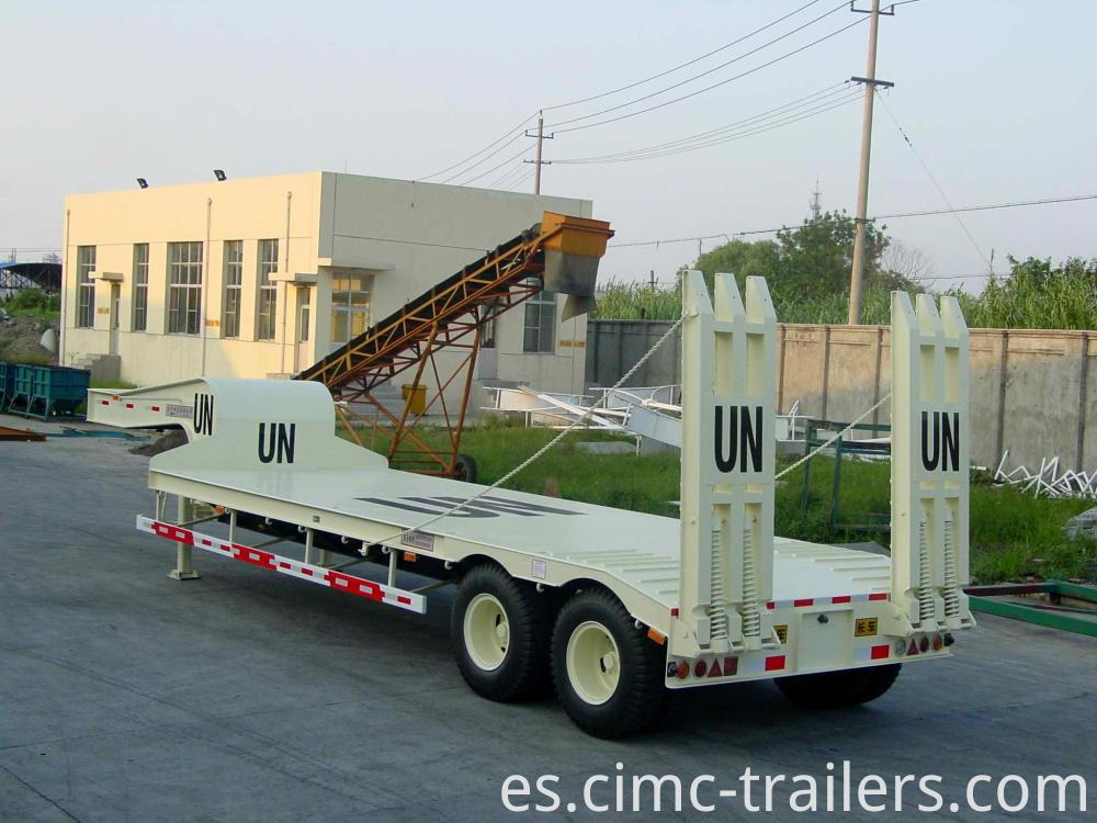 Lr Two Axle Lowbed Semi Trailer