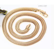 43085 Mode Coole 18 Karat Gold Schlange Schmuck Halskette in Metalllegierung