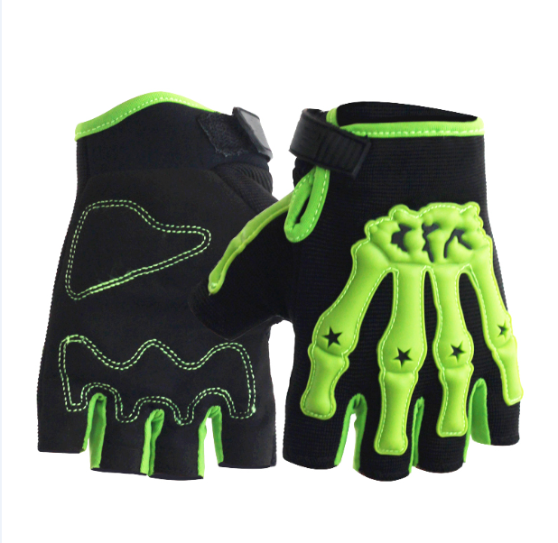 factory sale half finger bicycle rubber gloves