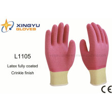 10g High Grade Polyester Shell Latex Fully Coated Safety Work Glove (L1105)