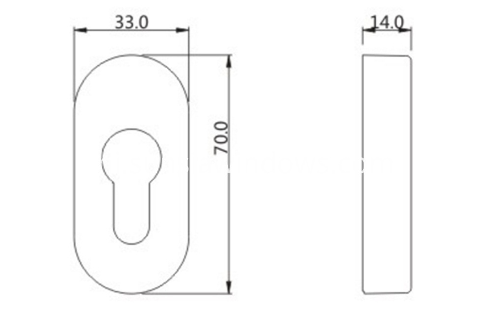 Excellent Quality Aluminum Alloy Lock Cylinder Cover Drawing