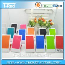 Logotipo plástico colorido del gel de la PU impresión tenedor del teléfono móvil